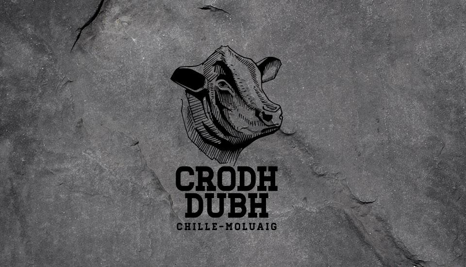 crodh dubh pedigree cattle, brand logo