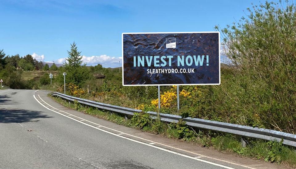 sleat community trust- banner, design