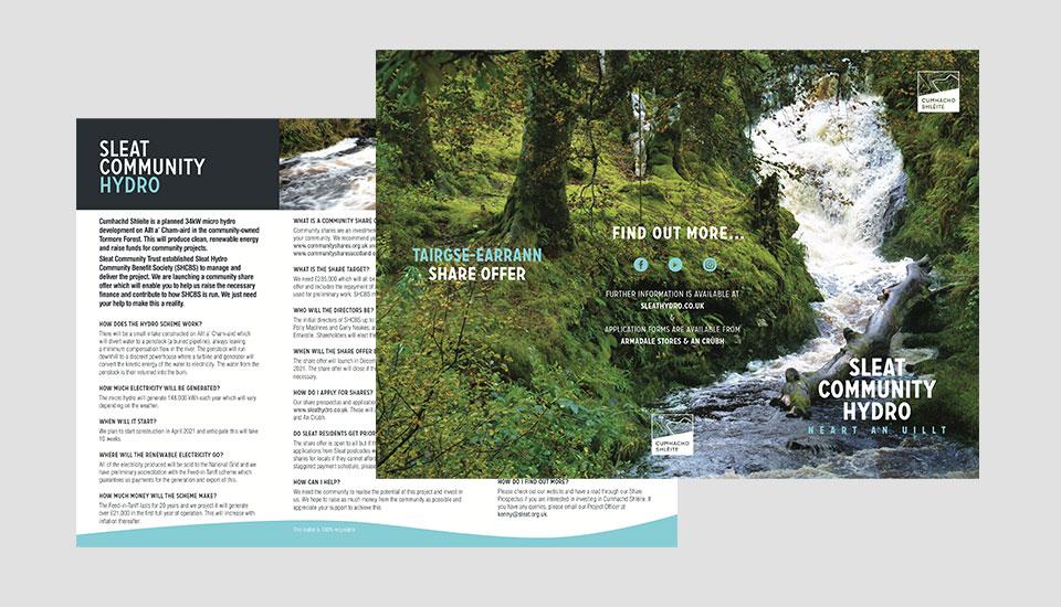 sleat community trust- leaflet