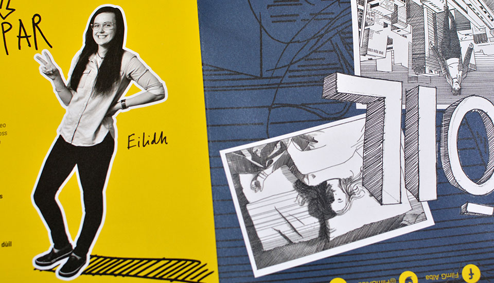 detail from FilmG workbook, graphic design, augmented reality and illustration