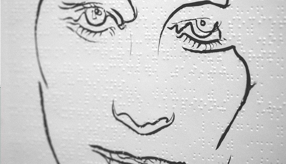 drawing on braille paper, steven mckenzie