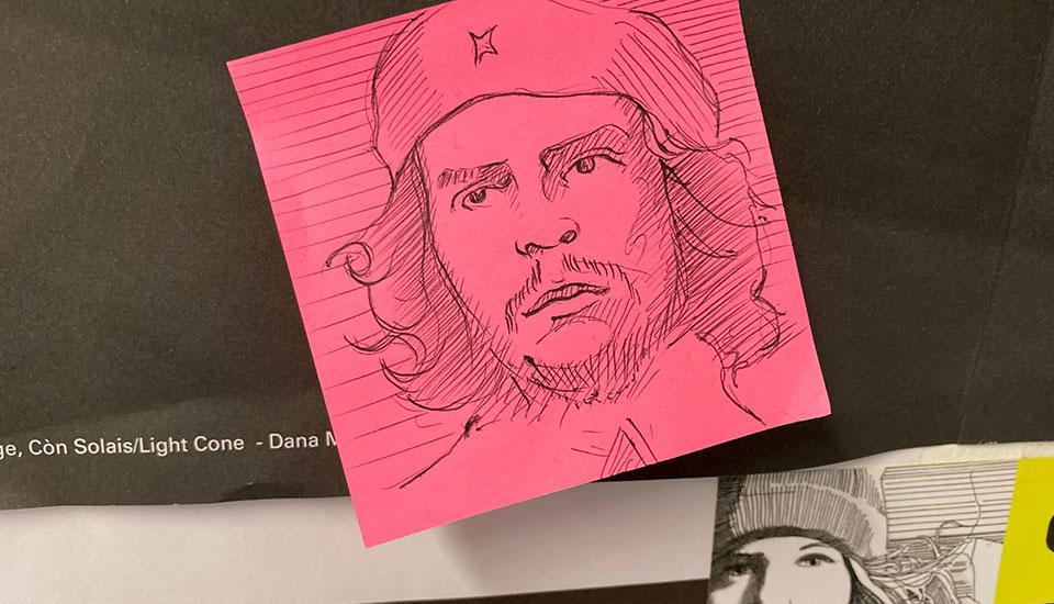 Illustration, pen drawing, FilmG, Che Guevara