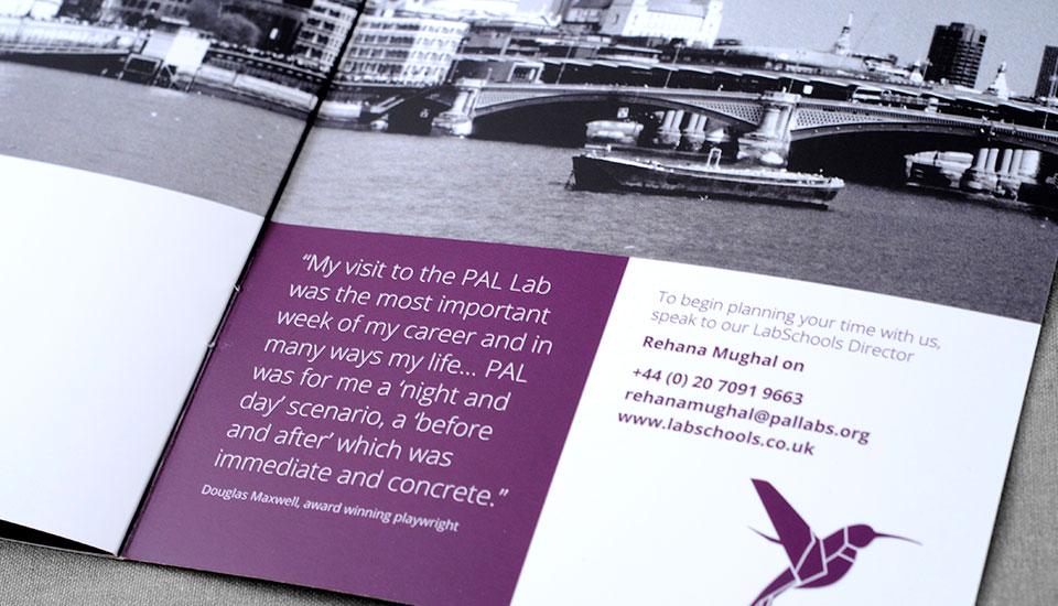 labschool brand, leaflet detail