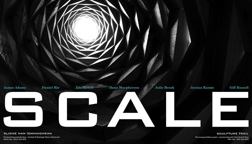 scale, sculpture trail armadale castle. leaflet design and photography